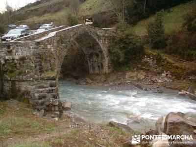 Puente en Broto - Cascada de Sorrosal; senderismo viajes; excursiones semana santa
